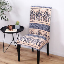Elegant Polyester and Spandex Stretch Fabric Washable Dining Chair Slipcover