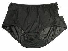 LORRAINE 100% Nylon Full Cut Brief Panties BLACK  PLUS SIZE 11 NWT