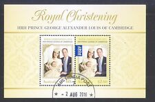 AUSTRALIA 2013 ROYAL CHRISTENING PRINCE ALEXANDER SOUVENIR SHEET 2 STAMPS USED