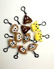 8 Mini Emoji Face Plush Key Chain Ring Emotion Toy Key Handbag Chain UK Stock
