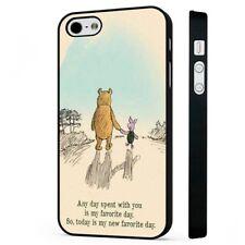 Cotización de Winnie Pooh Original teléfono negro Funda Encaja iPHONE