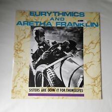 "EURYTHMICS AND ARETHA FRANKLIN Sisters Are Doin It For Themselves 12"" VINYL. EX"