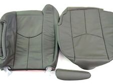 """03-06TAHOE,SILVERADO,SUBURBN LEATHER COMPLETE DRIVER SEAT COVER PEWTR""""GRAY""""#922"""