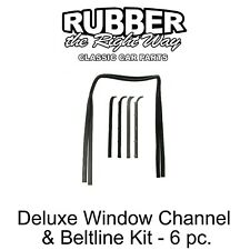 1980 - 1986 Ford Truck & Bronco Deluxe Window Run Channel & Beltline Kit - 6 pc.