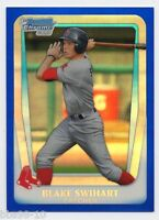 2011 Bowman Chrome BLAKE SWIHART Rookie RC BLUE REFRACTOR /199 BOSTON RED SOX 86