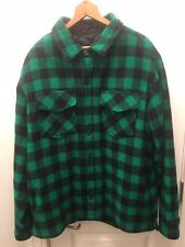 L.L. Bean Maine Guide Shirt with PrimaLoft, Green/Black, Large Tall