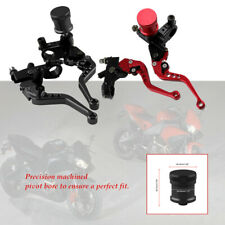 "2pcs 7/8""CNC Adjustable Motorcycle Brake Clutch Lever Master Cylinder Reservoir"