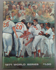 1971 World Series Program Baltimore Orioles vs Pittsburgh Pirates