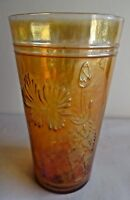 Vintage Carnival Glass tumblers Fantasy Flower By Jain Glass Works India #22 F