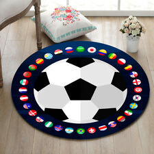 "World Soccer Home Decor Round Carpet Bedroom Floor Area Rug Kids Play Mat 23.5"""