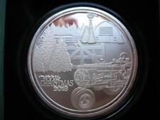 1-OZ.CHRISTMAS FARM 2018 JOHN DEERE TRACTOR  ENGRAVABLE .999  SILVER COIN +GOLD