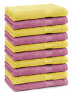 Betz Set di 10 lavette Premium misura 30 x 30 cm 100% cotone colore giallo e ros