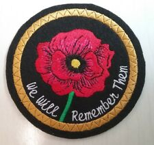 Poppy Embroidery Patch Remembrance  Day. Remember  with pride (16)