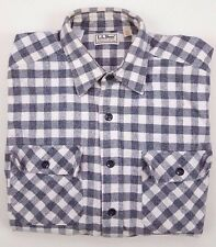 LL Bean CHAMOIS Shirt VINTAGE Checked MULTICOLOR 15 1/2 Cotton USA Mens GINGHAM*