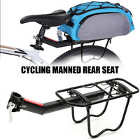 Alloy Bicycle Rear Rack Pannier Cycling Back Seat Luggage Bag Carrier Bike
