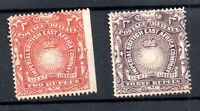 British East Africa 1890 2R and 3R mint MH SG16-17 WS18552
