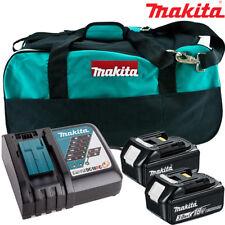 Makita 2 x batterie BL1830 + DC18RC Chargeur + Sac LXT400 pour DTW285Z, DHR171Z