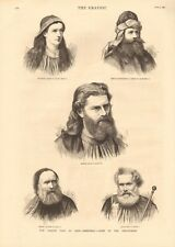 1880 ANTIQUE PRINT - OBER AMMERGAU-SOME OF THE PERFORMERS