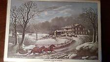 Currier & Ives Vintage Placemats (6)