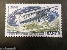 FRANCE 1977, timbre aérien 50, AVIONS, C. LINDBERGH, neuf** AIRMAIL MNH STAMP