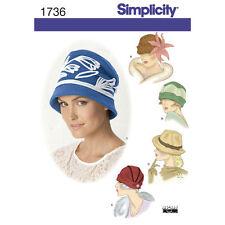"S1736 Sewing Pattern 4 Hats Cloche Retro 1920 1930 1940 Vintage SM-LG 21-23"" HAT"