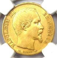 1853-A France Napoleon III Gold 20 Francs Coin G20F - Certified NGC XF45 - Rare!