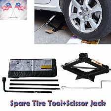 Chevy GMC Spare Tire Tool Kit with Carry Case and Scissor Jack 2T Speed Handle