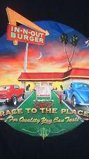 In N Out Burger XL Tshirt California Restaurant Souvenir Black Tshirt