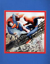 SUPERMAN vs AMAZING SPIDER-MAN PRINT PROFESSIONALLY MATTED Alex Ross art
