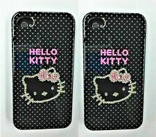LOT OF 2 Hello Kitty Bling Cover Case for iPhone 4/4s (Black)