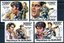 BURUNDI 2011 MNH Imperf 4v, Elvis Presley, Singer, Actor, Signature