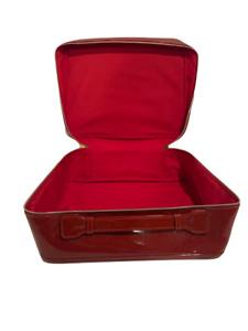 Estee Lauder Red Velvet Cosmetic Train Case Makeup Bag