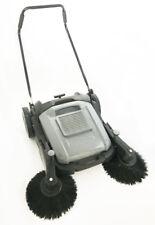 "41.33"" width Sweeper Triple Brush Hand Push Pavement Portable Street Sweep Tool"