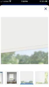 LEVOLOR Trim+Go 73-in x 78-in White Room Darkening Cordless Rolle