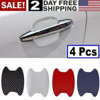 4 PCS black Scratch Decal Car Sticker   Auto SUV Door Handle  Protector Film  US
