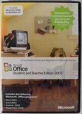 Microsoft Office 2003 Student and Teacher Edition (Retail) (3 User/s)
