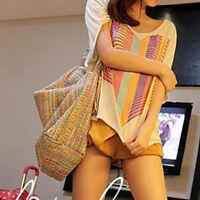 Sommer Damentasche Shopper Strandtasche Badetasche Straw Tasche-Extra.best