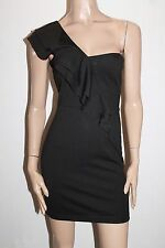 COTTON ON Brand Black Cassandra One Shoulder Dress Size S BNWT #Si89