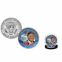 DONALD TRUMP 45.o Presidente 2016 Moneda Del Medio Dólar De los EEUU CASA BLANCA