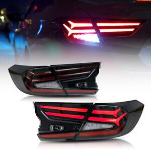 Smoke LED Tail Lights For Honda Accord 2018 2019 2020 Start  Animation Rear Lamp