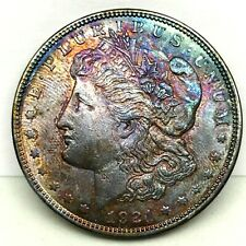 1921 MORGAN SILVER DOLLAR UNC MONSTER GEM STRIKING COLOR TONED CHOICE UNC.#1