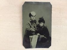 GAY INTEREST VINTAGE WOMEN HANDS ON IMAGE: Tinted Tintype of Two Wineb Touching