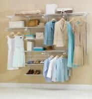 Rubbermaid Configurations Custom Closet Organizer 4-8' Deluxe Kit - White | 3H89