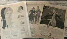 Antique 1920's Ladies Home Journal Magazine Ads Lot of 3 Peggy Paige Onyx