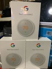 Google Nest Thermostat E Smart Thermostat White T4000ES SAVE ENERGY- NEW- SEALED