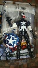 MARVEL LEGENDS VENOMIZED CAPTAIN  AMERICA WALMART EXCLUSIVE LOOSE & COMPLETE