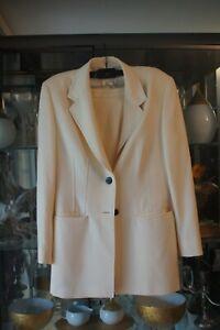 Vintage Escada cream women's skirt suit