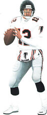 (10) NFL CLING CHRIS MILLER (#5319) FALCONS SILHOUETTE WINDOW MIRROR GLASS CLING