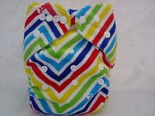 New Minky Chevron Rainbow Cloth Pocket Diaper Microfiber Insert Pul Eb0116