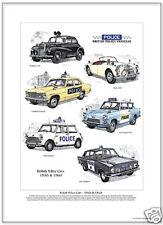 BRITANNIQUE POLICE VOITURES 1950s & 1960s - Impression Artistique / Photo